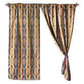 Found it at Wayfair - Jacquard Fleur-De-Lis Cotton Rod Pocket Curtain Panel - Who Knows!