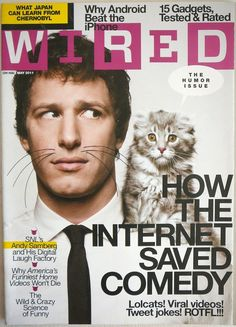 WIRED Magazine ANDY SAMBERG Cover Android Vasectomy Serial Killers Quora NEW