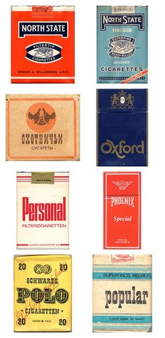 Amazing vintage cigarette pack designs from around the world |