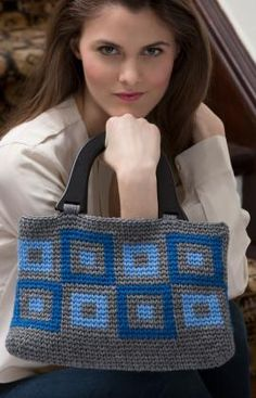 Urban Squares Purse - free pattern from RedHeart