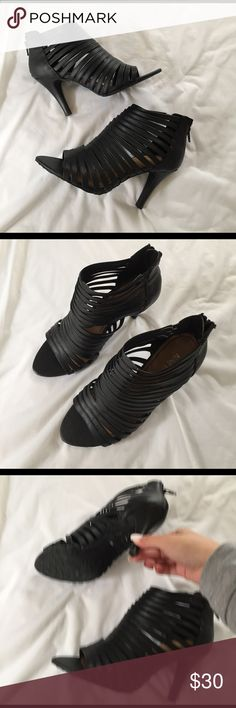 Black Sandal Heels Brand New never worn. Nine West Shoes Sandals