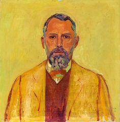"""kundst: """"Cuno Amiet (CH 1868-1961) Self portrait (selbstbildnis) 1913. Stiftung für Kunst, Kultur und Geschichte, Winterthur """""""