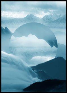 Reflected mountain Plakat