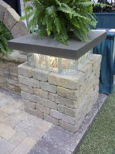 Glasbausteine in Mauern verwenden