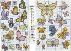 Papillons grilles point de croix petit et simple