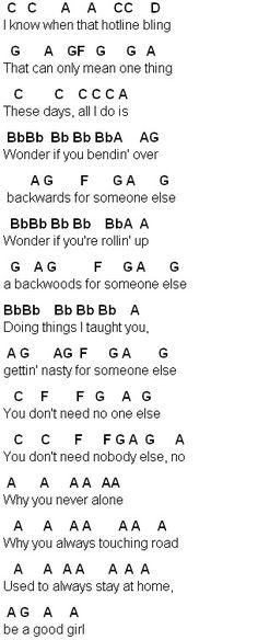 Flute Sheet Music: Hotline Bling
