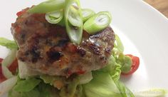 Paleo Thai Pork Open Burgers   #paleo #primal friendly recipe by captaincavedan.com Primal Recipes, Clean Recipes, Pork Recipes, Cooking Recipes, Breakfast Lunch Dinner, Low Carb Breakfast, Breakfast Recipes, Dinner Recipes, Pork Burgers
