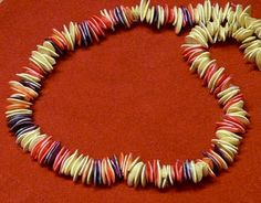 Pumpkin Seeds - Dyed and Strung into Necklace by Cafe Mom