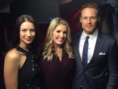 Here are new pics of Caitriona Balfe & Sam Heughan doing press (Janurary 7-8th). See more pics after the jump -