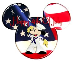 4th of July Glitter Graphics   Seasonal » 4th of july » MICKEY HAPPY 4TH OF JULY
