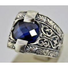 Sterling Silver 925 men ring ,ethnic design with sapphire stone. Male Rings, Rings For Men, Ethnic Design, Mans World, Sapphire Stone, Silver Man, Men's Jewelry, Jewellery, Cuff Bracelets