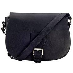 Buy John Lewis Sophia Leather Acrossbody Bag, Black Online at johnlewis.com