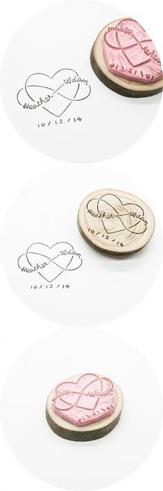 Infinity Love, custom wedding stamp hand-carved in Stockholm, Sweden. This is perfect for a handmade wedding! Could leave out the date for the stamp and then have a tattoo with the anniversary date Wedding Logos, Monogram Wedding, Wedding Stationary, Wedding Invitations, Wedding Symbols, Wedding Stamps, Invitation Cards, Handmade Wedding, Diy Wedding
