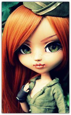 [ Pullip MIO FC (make-up ] . Cute Dolls, Blythe Dolls, Disney Princess, Wall, Eyes, Disney Princesses, Disney Princes