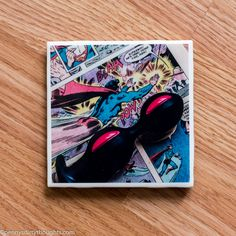 Love sex toys & comics? Check out this new photo coaster handmade by yours truly!