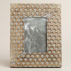 One of my favorite discoveries at WorldMarket.com: Gray Fish Scale Wood Frame