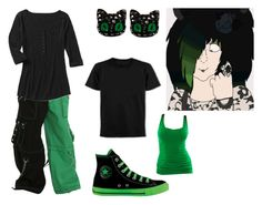 """""""Venus iDon't Want to Fight Vote"""" by brainyxbat ❤ liked on Polyvore featuring Tripp, Converse and A.N.A"""