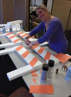 Construction birthday party decoration: Barrier re-purposed foam packaging from donated boxes. Orange construction paper for stripes. Workshop of Wonders VBS. Construction Birthday Parties, Cars Birthday Parties, Boy Birthday, Birthday Ideas, Car Themed Birthday Party, Construction Birthday Invitations, Birthday Games, Birthday Board, Fete Vincent