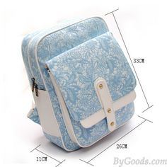 Pastel Blue Lace Embroidered Nice Backpack