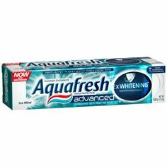 Special Pack of 5 AQUA FRESH ADVANCED WHITENING 6 oz by Med-Choice. $17.43