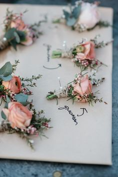 boutonniere for groom and groomsmen by Florals by Silva