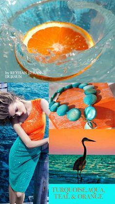 '' Turquoise, Aqua,Teal & Orange '' by Reyhan Seran Dursun