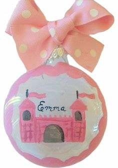 Princess Castle Christmas Ornament