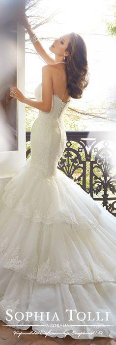 The Sophia Tolli Spring 2015 Wedding Dress Collection - Style No. Y11567 Wren www.sophiatolli.com #weddingdresses