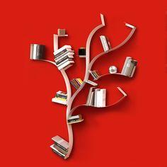 Infinity Shelf Red by Bolis Italia