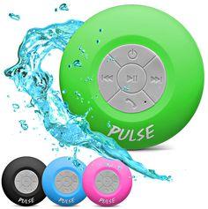 PULSE! Wireless Waterproof Bluetooth Shower Speaker - Green