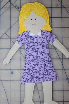 cloth fabric felt paper dolls tutorial instructions