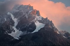 Portrait of a mountain. Cerro Paine Grande towers over Lago Grey.