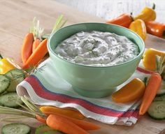 Need a delicious dip to bring to you next party? Try our Cheesy Spinach Dip recipe which is sure to please everyone. Offered and made with Daisy Sour Cream. Dill Dip Recipes, Daisy Brand, Sour Cream Dip, Food Equipment, Spinach Dip, Appetizer Dips, Cucumber, Cottage Cheese, Stuffed Peppers