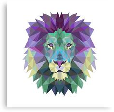 Geometrical lion Canvas Print