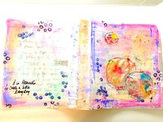 raemissigman - Blog - the process: recycled binder turned artjournal USE FOR KEEPING PAGES IN ORDER IF REMOVING FROM A SPIRAL BOUND BOOK.