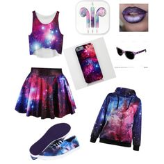 Galaxy by trista-jean-peck on Polyvore featuring Vans