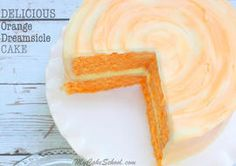 Our DELICIOUS homemade Orange Dreamsicle Cake Recipe is perfect for summer! It i… Our DELICIOUS homemade Orange Dreamsicle Cake Recipe is perfect for summer! It is moist, flavorful, and works well for cupcakes too! Orange Dreamsicle Cake Recipe, Creamsicle Cake, Cream Filling Recipe, Orange Frosting, Orange Cupcakes, Duncan, Cake Recipes From Scratch, Orange Cake Recipe From Scratch, Cake Tasting