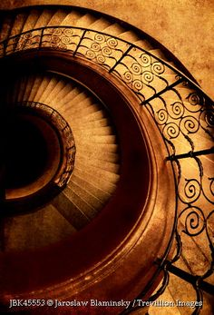 Spirals in brown by Jaroslaw Blaminsky Staircase Railings, Staircase Design, Stairways, Spiral Staircases, Banisters, Beautiful Architecture, Architecture Art, Winding Stair, Flooring For Stairs