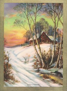 A Glow of Welcome Calendar Art by RedfordRetro on Etsy, $10.00