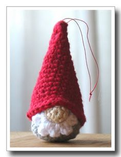 crochet tomte pattern and here is a link to the entire story online… Christmas Crochet Patterns, Holiday Crochet, Crochet Gifts, Crochet Amigurumi, Crochet Dolls, Knit Crochet, Crochet Santa, Free Crochet, Gnome Ornaments