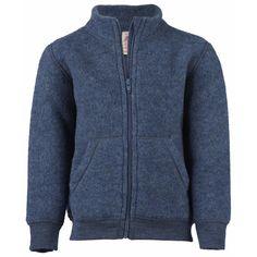 Children's Fleece Jacket With Zipper In Organic Merino Wool or - : Cambridge Baby, Organic Natural Clothing Natural Clothing, Baby Kind, High Collar, Wool Coat, Soft Fabrics, Baby Dress, Mantel, Merino Wool, Hooded Jacket
