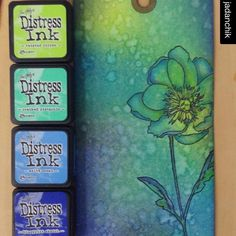 ・・・ Retaking OCC Creative Chemistry 101 in prep for in August. Challenge 1 - Blended Spritz and Flick. The stamp is one of Tim's from the Flower Garden Set. Distress Markers, Tim Holtz Distress Ink, Distress Oxide Ink, Card Making Tips, Card Making Techniques, Making Ideas, Distress Ink Techniques, Embossing Techniques, Timmy Time