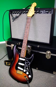 Our trusty gear for this video included the Fender SRV Strat and a Deluxe Reverb amp.