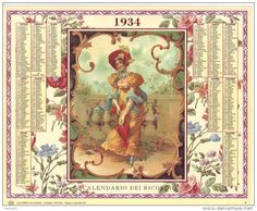 Calendario dei ricordi anno 1934