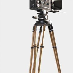 3d classic movie camera model