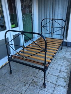 Victorian French Cast Iron Single Bed View More On The LINK