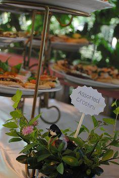 Garden Tea Party food