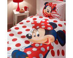 Disney Minnie Mouse Single Twin Duvet Quilt Comforter Cover Set
