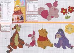 lo spazio di lilla: Winnie the Pooh e i suoi amici, schemi a punto croce / Winnie the Pooh and his friends, cross stitch patterns