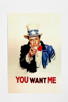 Stephen Colbert uncle sam poster - You want me